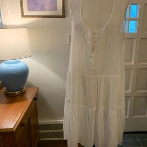 White sheer j.crew pool cover up